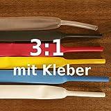 Schrumpfschlauch mit Kleber 40mm 1,2m (wasserdicht) 3:1, Farbe:schwarz