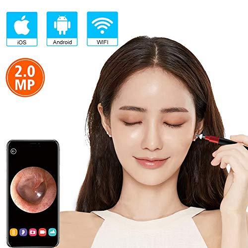 kamera, 2019 Neu Aktualisiert 3,9 mm Durchmesser Wifi Visual Digital-Otoskop mit 6 LED-Leuchten Kompatibel mit Android/Ios,endoscopeRosegold ()