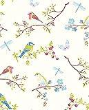Pip Studio Tapete Vögel weiß
