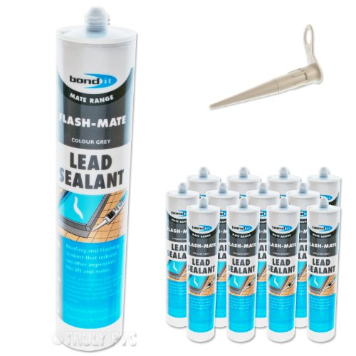 12-x-bond-it-flash-mate-grey-flashing-silicone-lead-sealant-eu3-seals-and-repairs-lead-leaks-and-fla