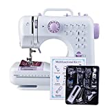 Dewel Nähmaschine mit Nähfuß Anzug Nähprogramme Haushaltsgeräte Stichprogramme (12 Programmen Nähmaschine eingestellt)