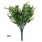 CTGVH Künstlichen Pflanze, 2St. Kunststoff Eukalyptus Gras Simulation Pflanze für Restaurant Möbel Partition Pflanze Wand Dekoration Home Hochzeit Decor