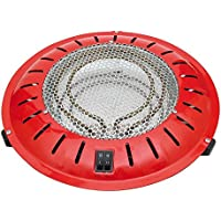 HJM 22020910 - Brasero eléctrico (400/500/900 W), color rojo