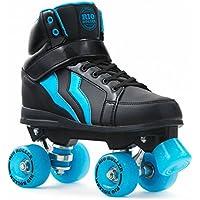 Rio Roller Kicks Style Quad Skate Child - Patines, Unisex Adulto, Negro (Black/Blue), 44.5 EU