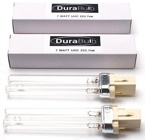 durabulb Ersatz UV (Ultra Violet) Lampe für Teich UVC Filter & Klärer 5W 7W 9W 13W - Twin Pack 7W (Teich Pack)