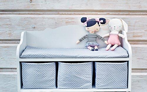 KraftKids Kindersitzbank weiß mit Sitzauflage