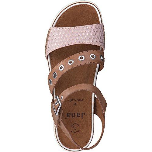 Jana Damen sandalo 8-28601-346 natura marrone braun