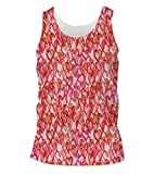 Snoogg Multiple Red Hearts Mens Casual Beach Fitness Vests Tank Tops Sleeveless T shirts