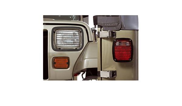 RUGGED RIDGE 11218.01 Tailgate Hinge Set Black For 87-95 Jeep Wrangler YJ