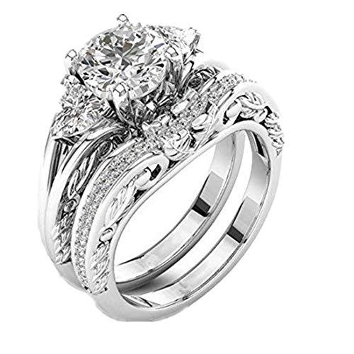 Mode Dame Zirkonia Ring Kreative Set Ring Zubehör YunYoud Moderne stahlring vergoldet echte schwarz billige Steinchen rosenring gelbgold schmal siegelring freundschaftsringe