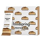 foodspring Barretta Proteica Extra Cioccolato Pacchetto da 12 (Soft Caramel)