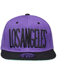 Original Snapback (one size, Los Angeles City Schwarz / Lila) + Original MY CHICOS Sticker