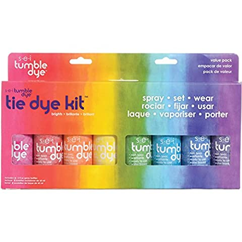 SEI Tumble Dye Craft and Fabric Tie-Dye Kit 2 Oz 8 kg-Assorted