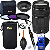 Canon EF 75-300mm F/4-5.6 III Telephoto Zoom Lens For Canon SLR Cameras (International Version) + 3pc Filter Kit (UV,FL-D,CPL) + 8pc Bundle Accessory Kit W/HeroFiber Cleaning Cloth