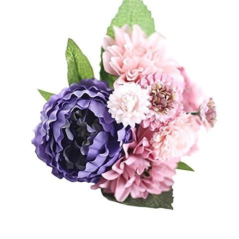 Kolylong Artificial Flowers, Peony Silk Flower Bridal Hydrangea Home Wedding