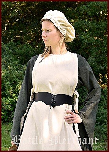 Mieder Gürtel aus Leder - Miedergürtel für Mittelalter, LARP Farbe braun