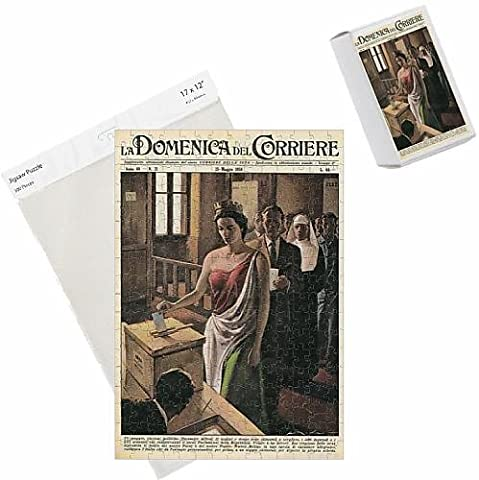 Photo Jigsaw Puzzle of Italia casts her votes, 1958