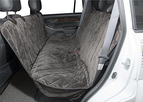 Auto Hundedecke mit Seitenschutz Autoschondecke Rückbank Kofferraum Wasserabweisend Verstellbar und Rutschfest für PKW LKW und SUV BMW Cabrio(grau)