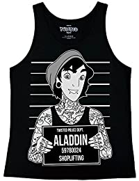 The Dead Generation Tattoo Punk Aladdin Mugshot Ladies Vest Top - Gothic Alternative Clothing by Twisted Apparel