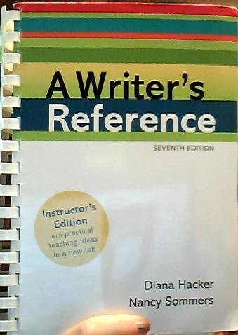 A Writer's Reference: [Instructor's Ed.]