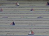 Fitzibiz Dekostoff Emilia von Swafing, Boote, Streifen,