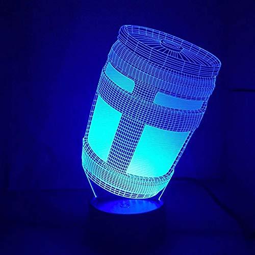 3D Spiel Chug Jug Nachtlicht Lampe 7 Farbwechsel Led Touch Usb Tabelle Geschenk Kinder Spielzeug Dekor Dekorationen Weihnachten Valentines Geschenk Geburtstagsgeschenk Touch-Schalter