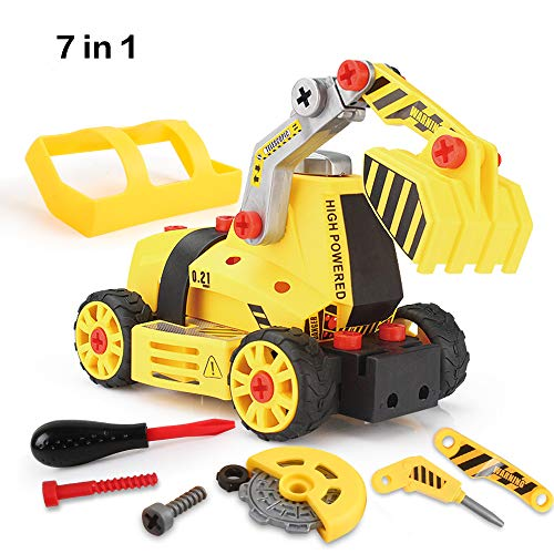 Arkmiido 7 in 1 Assembled Car Set Toy DIY Car Boys Construction Game Machine Maker Working Car