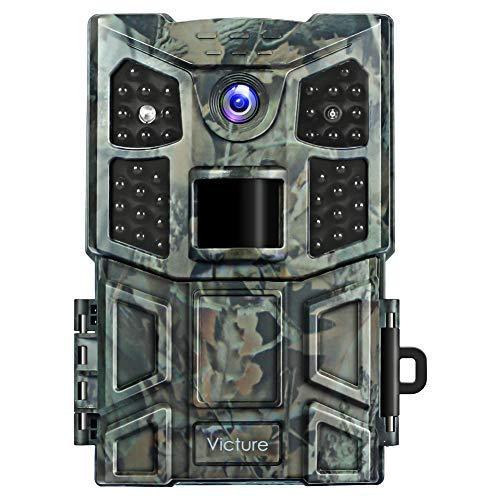 Victure Wildkamera Fotofalle 20MP 1080P 40 Low-Glow Infrarot-LEDs mit bewegungsmelder Nachtsicht Wasserdicht Jagdkamera 0,2s Auslösezeit für Jagd