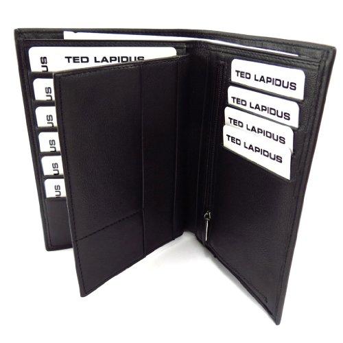Ted Lapidus [K5629] - Portefeuille cuir 'Ted Lapidus' noir