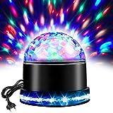 LED Discokugel,RGB Lichteffekt Disco lampe,Partyleuchte Disco Bühnenbeleuchtung,Kristall Magic Ball,Lampe Projektor für Party, Zimmer, DJ, Club, Hochzeit, Geburtstag, KTV