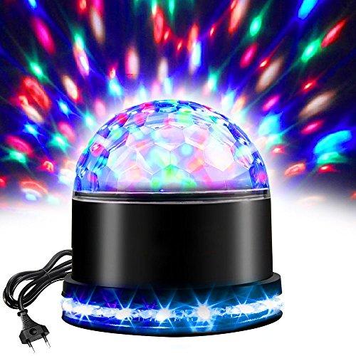 LED Discokugel, RGB Lichteffekt Disco lampe, Partyleuchte Disco Bühnenbeleuchtung, Kristall Magic Ball, Lampe Projektor für Party, Zimmer, DJ, Club, Hochzeit, Geburtstag, KTV