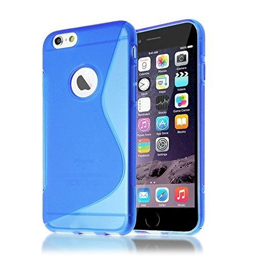 Connect Zone iPhone 7 (11.9cm) S Ligne TPU Silicone étui housse brillant Skin - Bleu S Ligne Gel, iPhone 7 (4.7 inch)