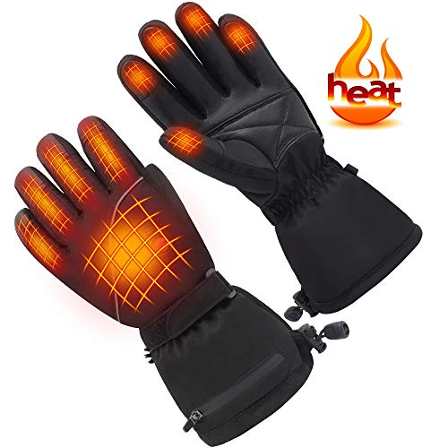 Mermaid Beheizte Handschuhe Herrenhandschuhe für chronisch kalte Hand, Handwärmer-Handschuhe Erhitzte Motorradhandschuhe für Geschenke, Jagd, Arbeiten im Freien (XL)