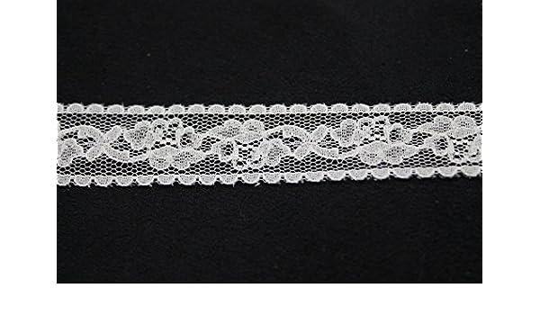 5m x 20mm weiß Häkeln Spitze Rand - Nähen Verzierung für Damen Kleid ...