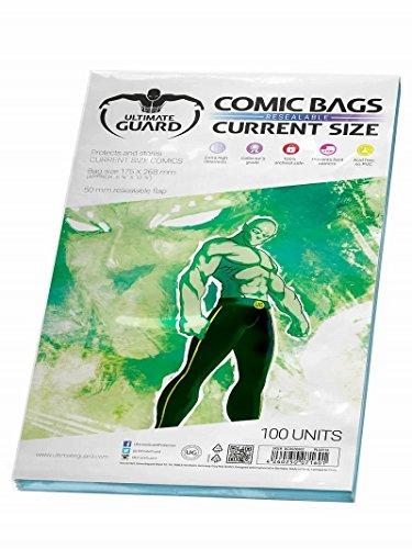 Ultimate Guard UGD020002 - Comic Bags, wiederverschließbar, Current Size, 100 Stück