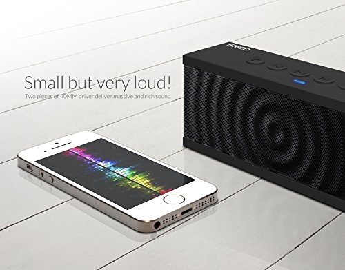 FRiEQ-Altavoz-estreo-bluetooth-porttil-inteligente-12W-NFC-con-batera-recargable-de-8-horas-de-autonoma-con-micrfono-incorporado