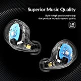 ENACFIRE Wireless Headphones, Future Bluetooth Headphones 18H Playtime Deep Bass Stereo Sound 15-20m Bluetooth Range V5.0 True Wireless Earphones Earbuds With Mic, Elegant Portable Charging Case