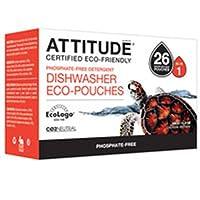 Attitude Dishwasher Detergent Eco Pouches, 40 Pouch
