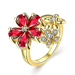 YELLOW CHIMES Exlusive Latest AAA Swiss Zircon Ring for Women and Girls