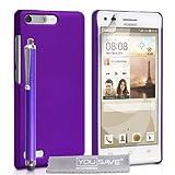 Yousave Accessories Rigida Ibrida Cover con Pennino per Huawei Ascend G6-Viola