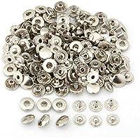 Botones - SODIAL(R) 50 juegos Metal Corchete Sujetador Broche Botones perno de presion sin costura 10mm