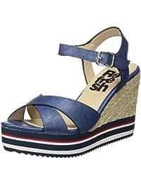 64292, Sandali Punta Aperta Donna, Blu (Jeans), 40 EU Refresh