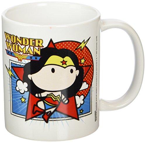 Liga de la Justicia Chibi de Wonder Woman Taza de cerámica, Multicolor
