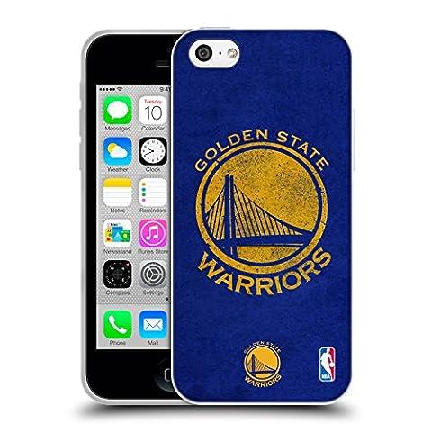 Officiel NBA Affligé Golden State Warriors Étui Coque en Gel molle pour Apple iPhone 5c
