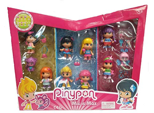 Pinypon 10 figurines + 30 accessoires. 8 figurines + 2 animaux
