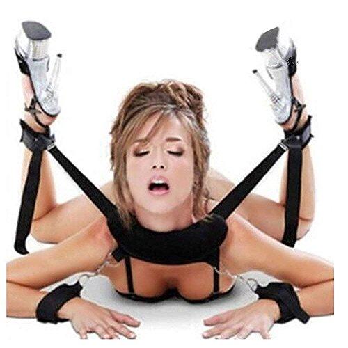 Cosplay adultos Hand & Tobillo Cuffs Strap Kit Restricciones de cama Pareja Flirt Toy para juego de fiesta