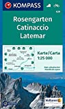 KOMPASS Wanderkarte Rosengarten, Catinaccio, Latemar: Wanderkarte mit Radrouten. GPS-genau. 1:25000: Wandelkaart 1:25 000 (KOMPASS-Wanderkarten, Band 629)
