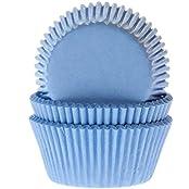 50 Muffinförmchen Himmelblau, Papierbackförmchen -50x33mm