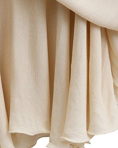 Donna Casual V-Collo Orlo Irregolare Magliette T-Shirt Top Bluse Camicie Taglie Forti Cachi