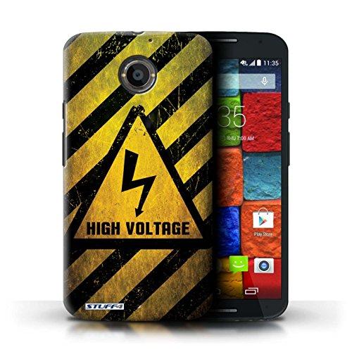 Kobalt® Imprimé Etui / Coque pour Motorola Moto X (2014) / Feu/Inflammable conception / Série Signes de Danger électricité